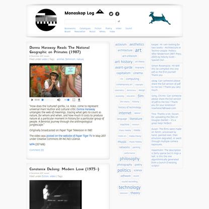 video - Monoskop Log