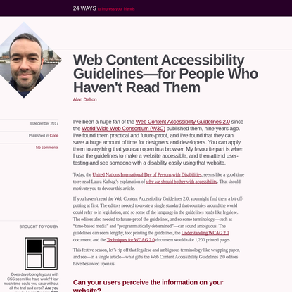 Web Content Accessibility Guidelines-for People Who Haven't Read Them
