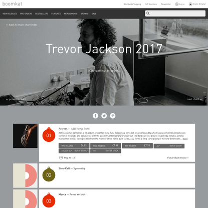 Boomkat Charts: Trevor Jackson 2017