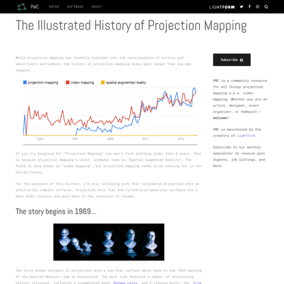 The Illustrated History of Projection Mapping - Projection Mapping...