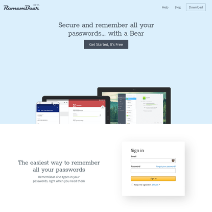 RememBear: Secure Password Manager