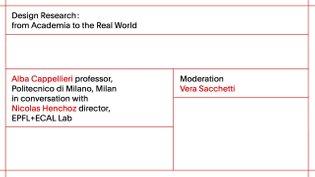 ECAL Research Day 2017: Alba Cappellieri - professor, Politecnico di Milano, Milan