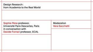 ECAL Research Day 2017: Sophie Pène - vice president, Conseil National du Numérique, Paris