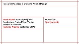 ECAL Research Day 2017: Astrid Welter - head of programs, Fondazione Prada, Milan/Venice