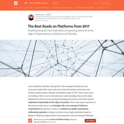 The Best Reads on Platforms from 2017 - Stories of Platform Design