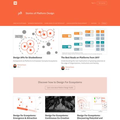 Stories of Platform Design