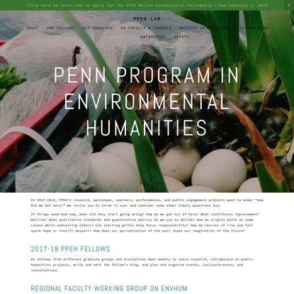 Penn Program in Environmental Humanities