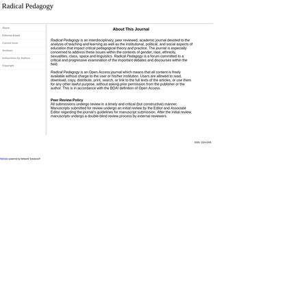 Radical Pedagogy About