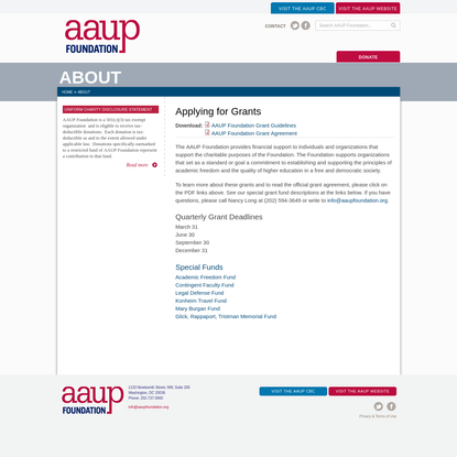 Applying for Grants | AAUP Foundation
