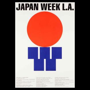 Work by Ikko Tanaka, Japan Week L.A., 1987