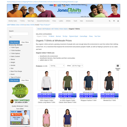 Wholesale Organic Cotton T-shirts