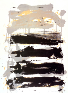 Joan Mitchell, Champs (Black, Gray and Yellow) (1991-92)