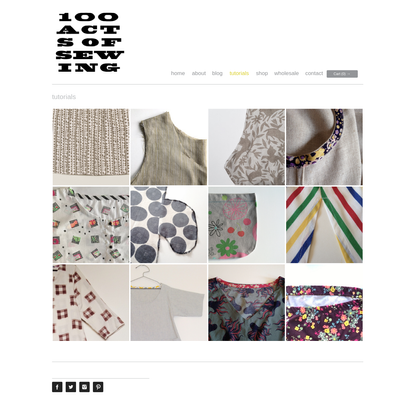 tutorials - 100 Acts of Sewing