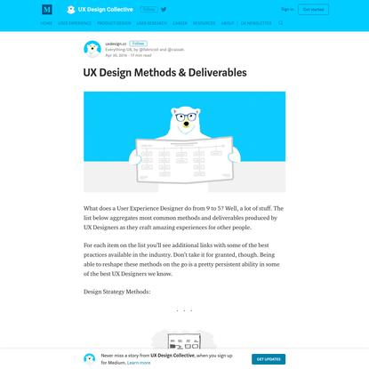UX Design Methods & Deliverables - UX Design Collective