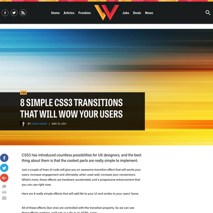 8 simple CSS3 transitions that will wow your users   Webdesigner Depot