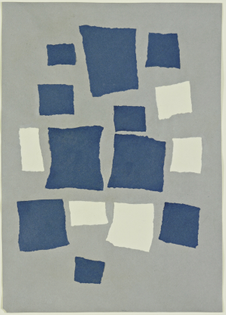 Untitled (Collage with Squares Arranged according to the Laws of Chance), Jean Arp, 1917