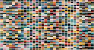 Gerhard Richter, 256 Colors, Oil on Canvas, 1972