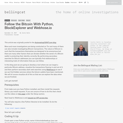 Follow the Bitcoin With Python, BlockExplorer and Webhose.io - bellingcat