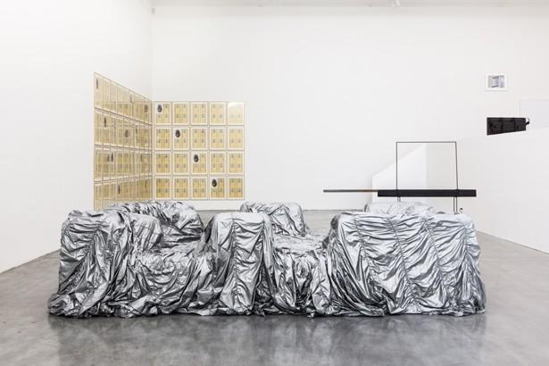 John Chamberlain's piece at Decartes Daughter Show, Swiss Institute