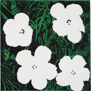 Sturtevant - Study for Warhol Flowers (1971)