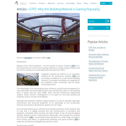 ETFE: Why this Building Material is Gaining Popularity - Architen Landrell
