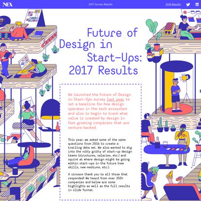 Future of Design in Start-Ups: 2017