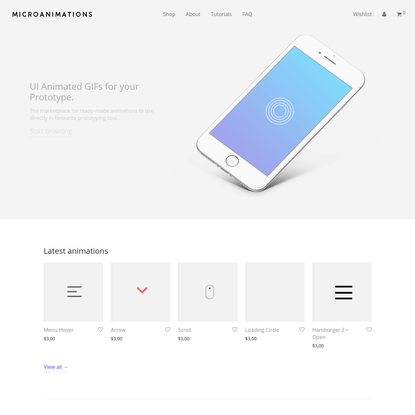 Micro Animations - Animated gifs for your prototype