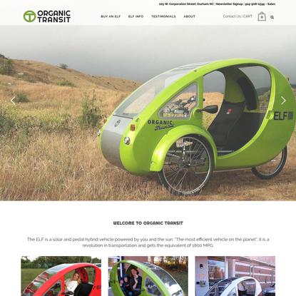 Organic Transit   Exercise Your Power! ELF Solar Pedal Power