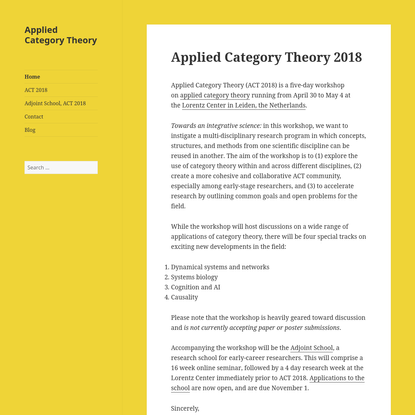 Applied Category Theory
