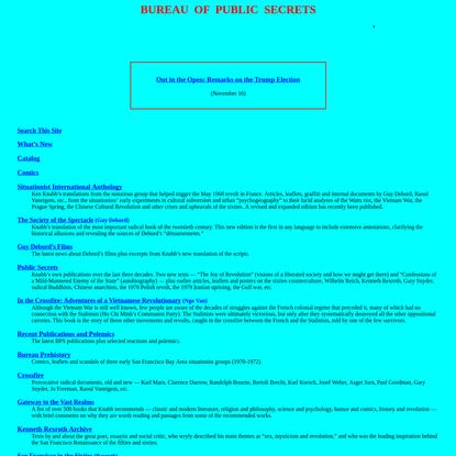 Bureau of Public Secrets - situationist texts and translations