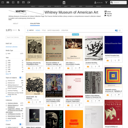Whitney Museum of American Art : Free Texts : Download & Streaming : Internet Archive