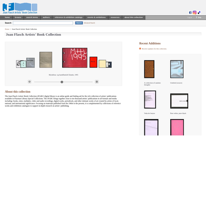 Joan Flasch Artists' Book Collection