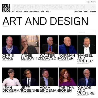 Video - Art and design - Charlie Rose