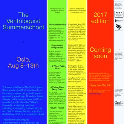 The Ventriloquist Summerschool 2016