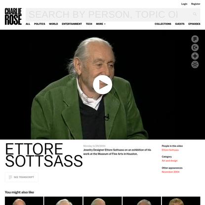 Ettore Sottsass - Charlie Rose