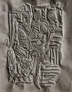 FREDERICK SOMMER Untitled (drawing on metal foil), 1970