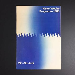 #1985 #kielerwoche programme #brochure (#design by doris casse schlüter) - #historyofgraphicdesign #graphicdesign #corporatedesign #corporateidentity #kiel #modernism #gradient #coverjunkie