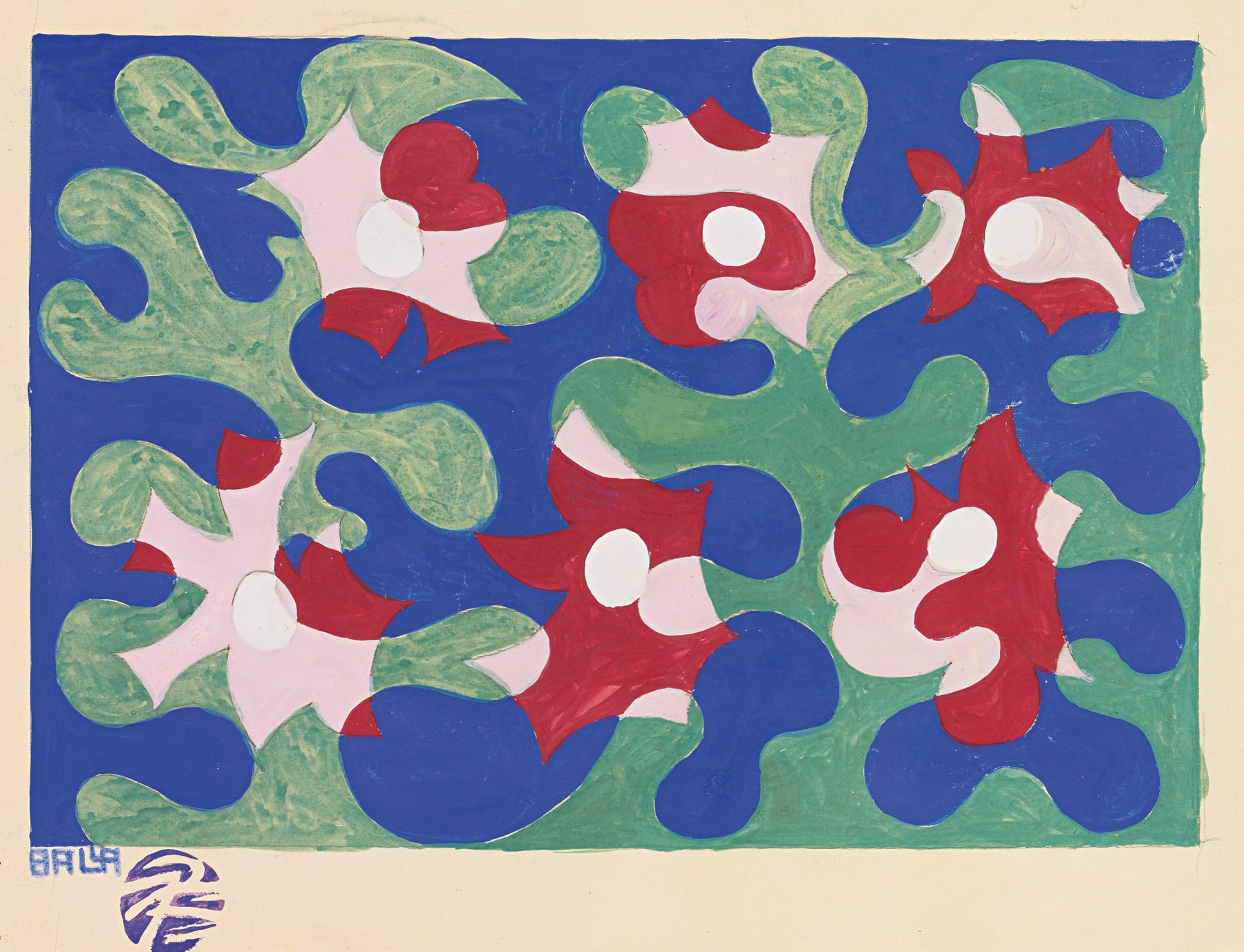 Giacomo Balla, Fiori e Linee Andamentali (Flowers and Lines Performing), 1919