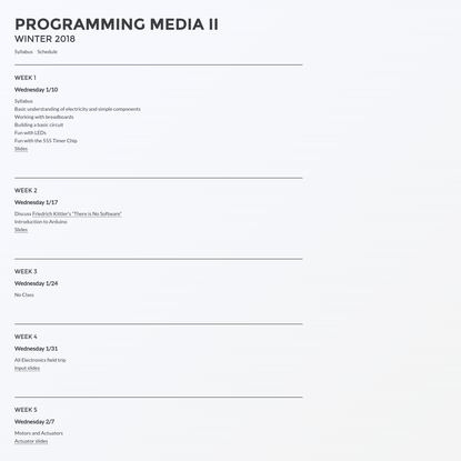 Programming Media II