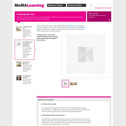 MoMA | Sol LeWitt and Instruction-based Art