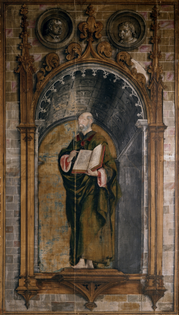 BERRUGUETE, PEDRO Paredes de Nava, Palencia, 1445 - Madrid (¿?), 1503 Saint Peter 1493 - 1499. Tempera on twill / twill weave canvas, 350 x 206 cm.