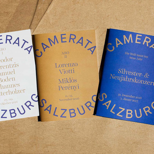 Camerata Salzberg Identity by Studio Bruch