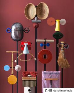 Dutch Invertuals - Fundamentals, on view until October 29! @dutchinvertuals #fundamentals @dutchdesignweek Photography @raw_color_ #exhibition #Fuutlaan12B #masks #DDW2017 #dutchinvertuals #objects #earneststudio
