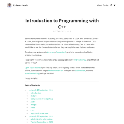 Introduction to Programming with C++
