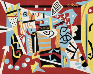 Stuart Davis, Hot Still-Scape for Six Colors — 7th Avenue Style, 1940