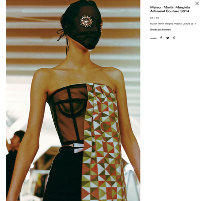 Maison Martin Margiela Artisanal Couture SS14