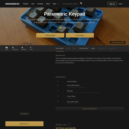 Parametric Keypad