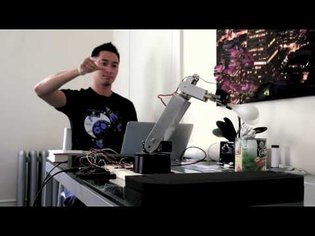 Robotic Arm Controlled in Free Space by Leap Motion