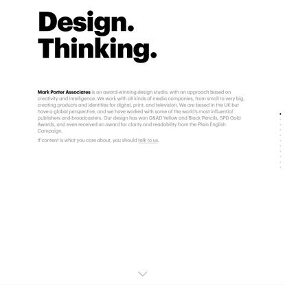 Mark Porter Associates: Award-winning content-driven design