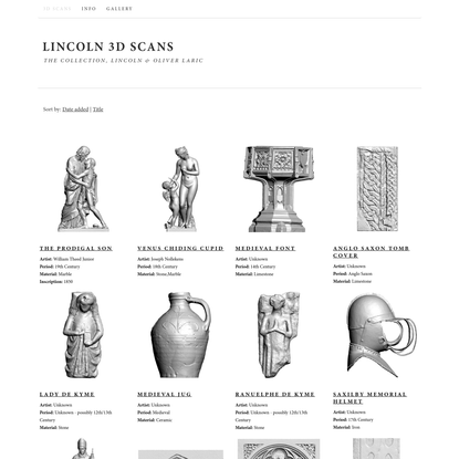 Lincoln 3D Scans   The Collection, Lincoln & Oliver Laric
